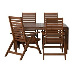 ÄPPLARÖ table + 4 reclining chairs outdoor  sc 1 st  Ikea & Outdoor dining furniture Dining chairs u0026 Dining sets - IKEA