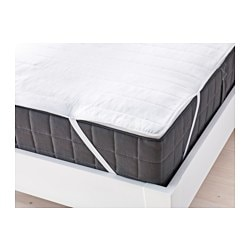 "ÄNGSVIDE mattress protector Thread count: 132 square inches Length: 75 "" Width: 53 "" Thread count: 132 square inches Length: 190 cm Width: 135 cm"