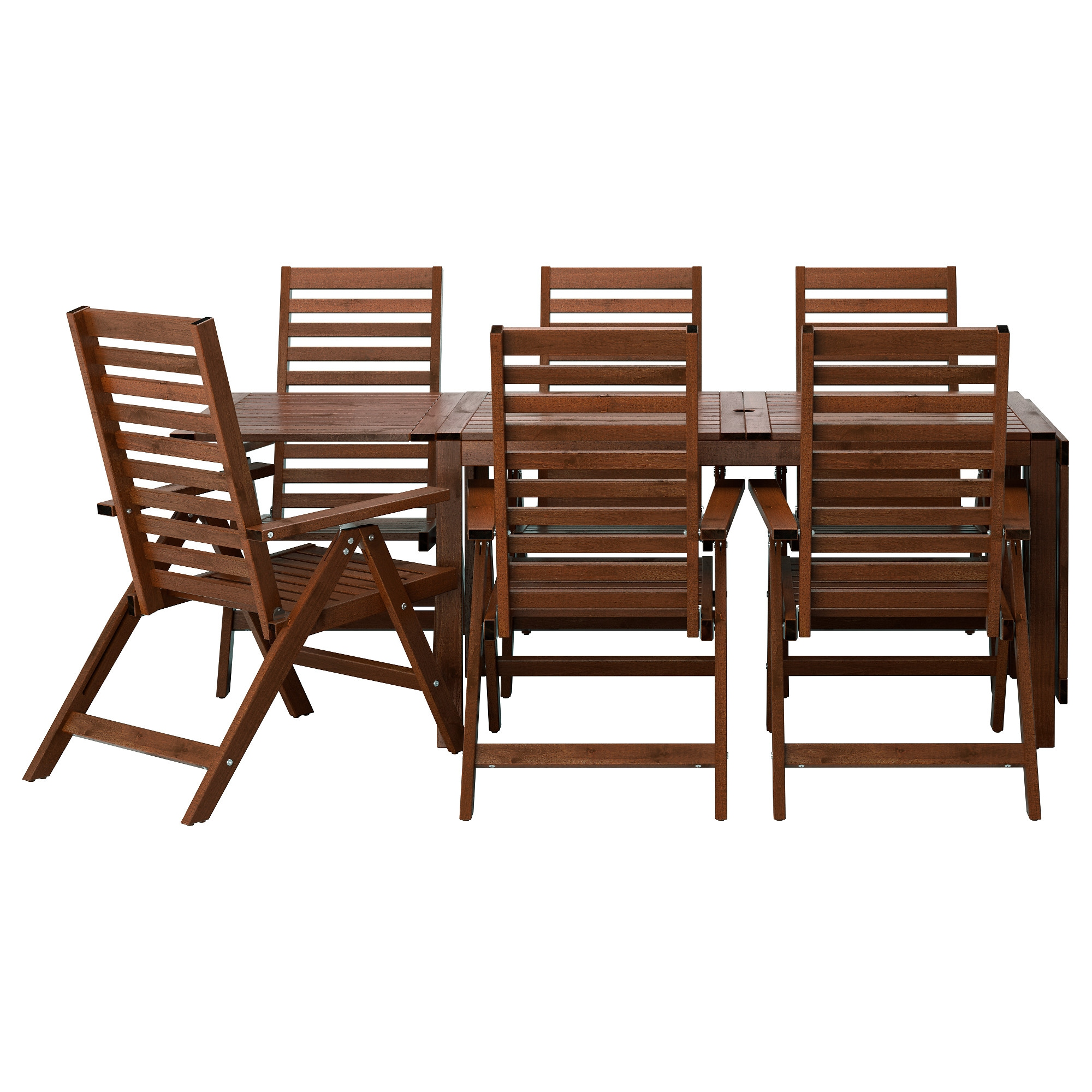 PPLAR Table 6 Reclining Chairs Outdoor