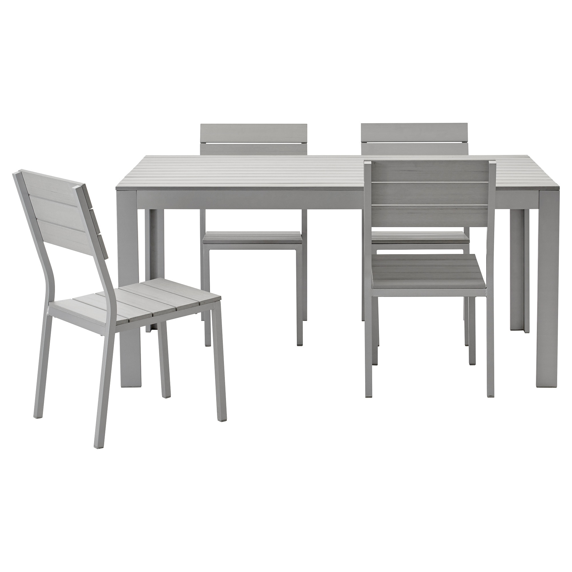Falster Table And 4 Chairs Outdoor Gray Ikea