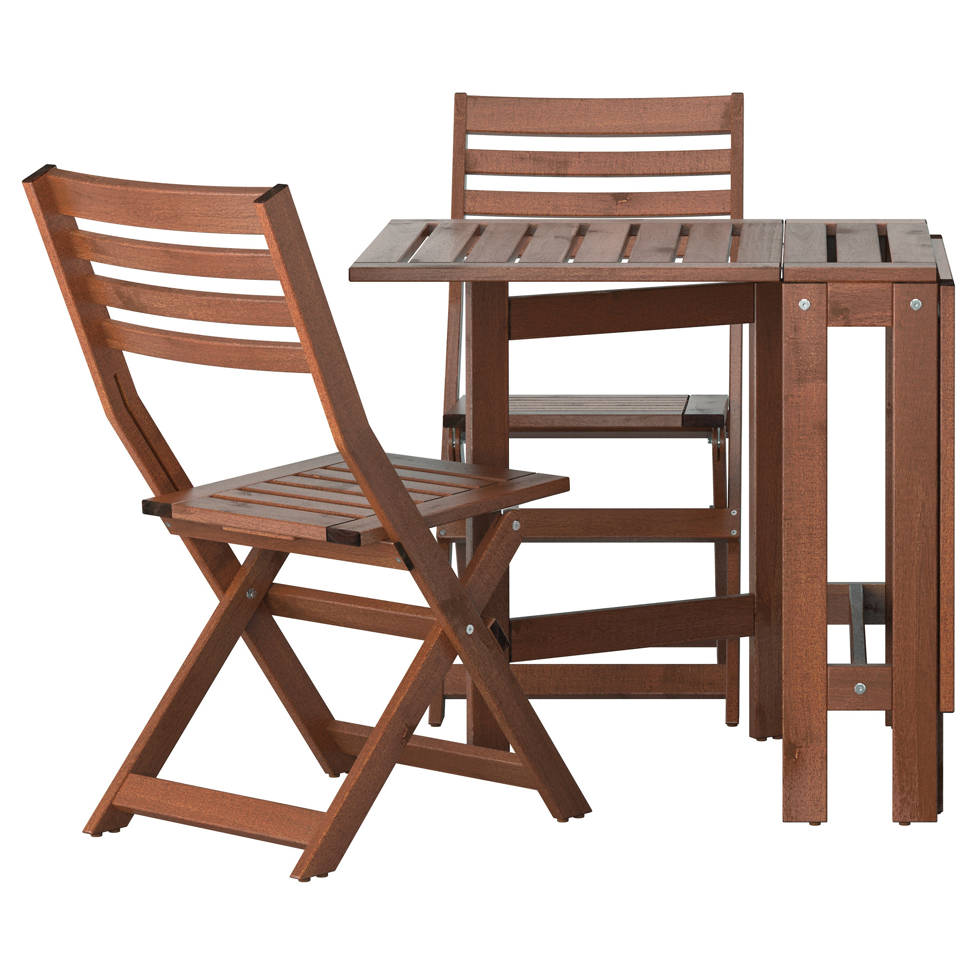 """PPLAR– Table and 2 folding chairs outdoor IKEA"