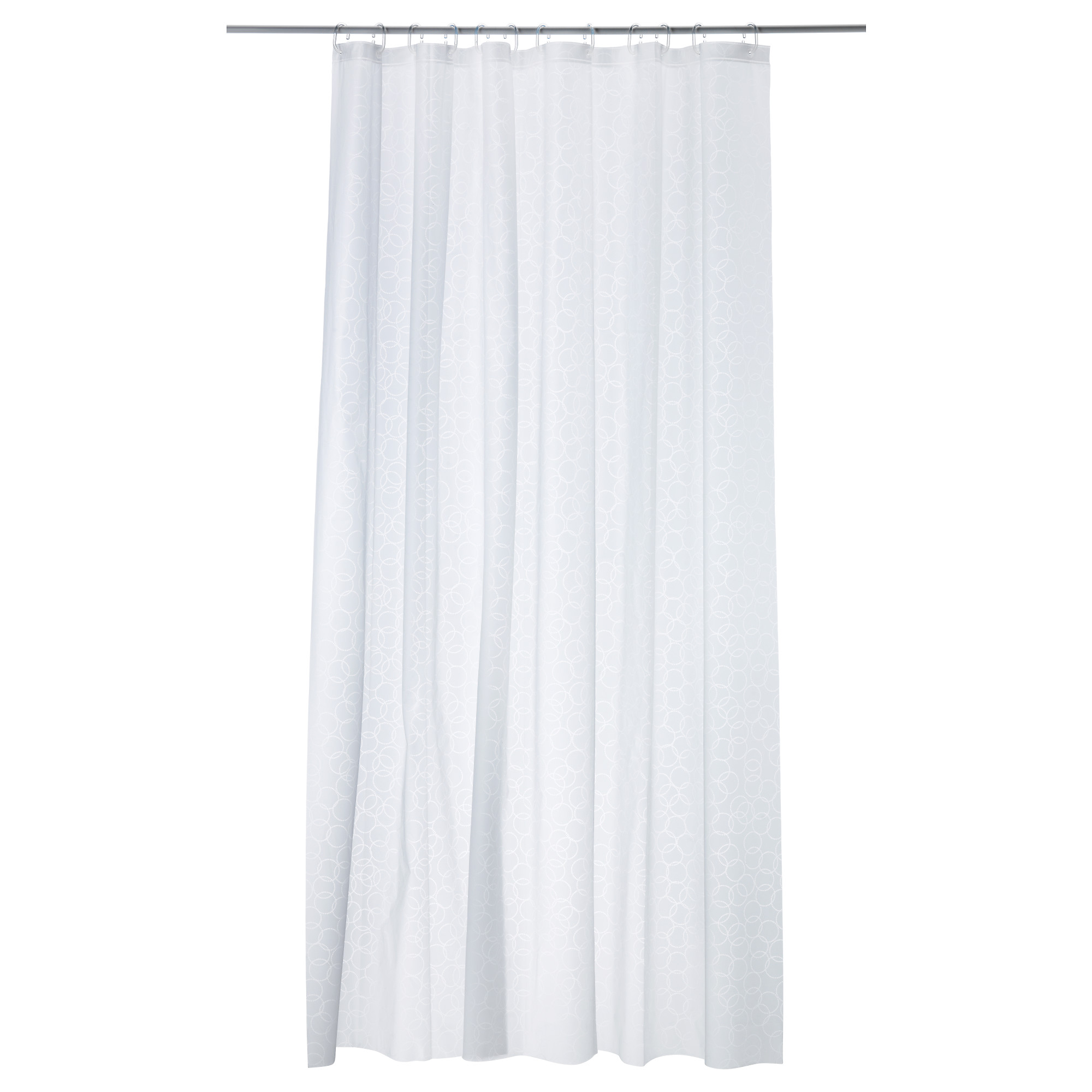 Bathroom plastic curtains - Innaren Shower Curtain White Length 71 Width 71 Area 34 88