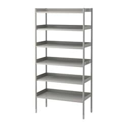 HINDÖ shelf unit, indoor/outdoor, gray