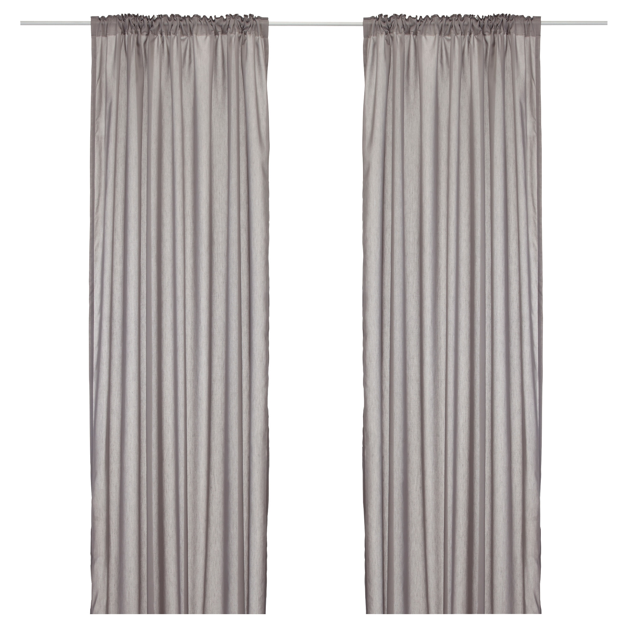 White curtains bedroom - Vivan Curtains 1 Pair Gray Length 98 Width 57