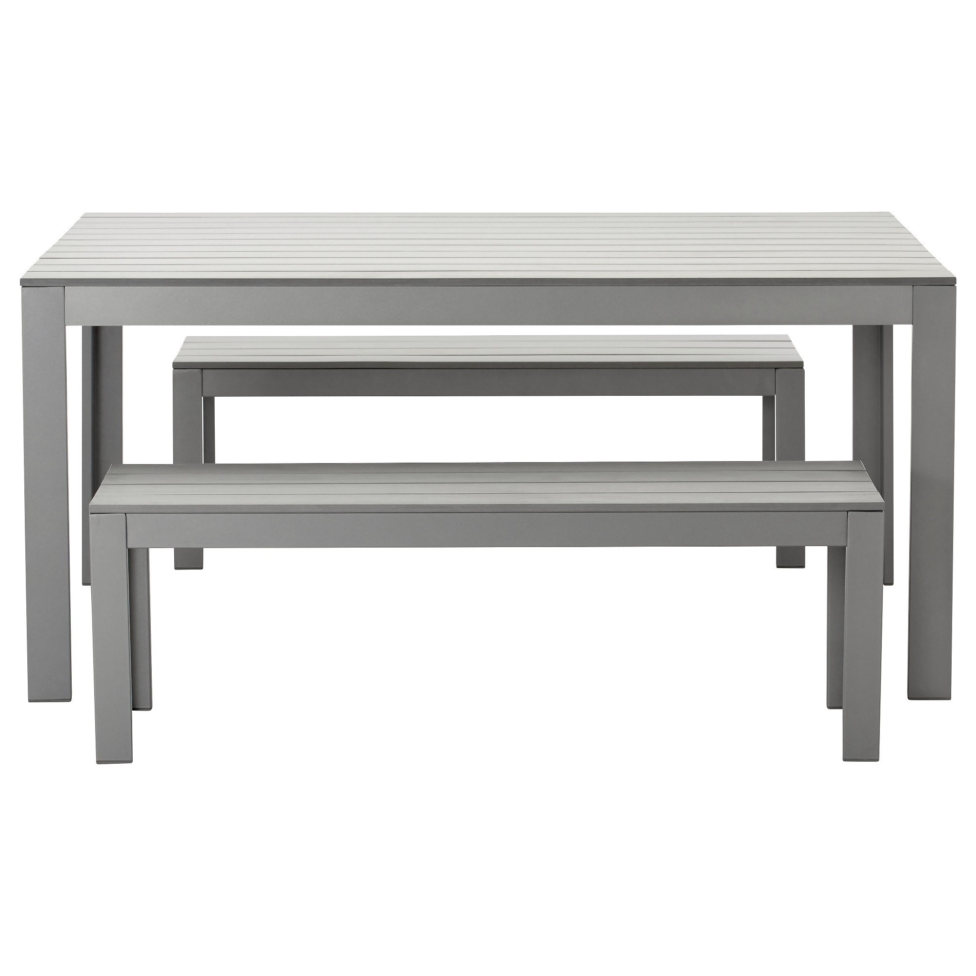 FALSTER Table+2 Benches, Outdoor   Gray   IKEA