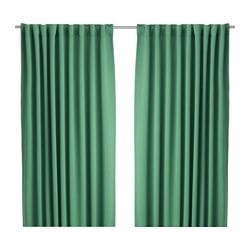 WERNA block-out curtains, 1 pair, green Length: 300 cm Width: 145 cm Weight: 2.50 kg