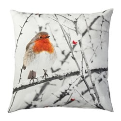 ELDBLOMMA, Cushion cover, bird, tree