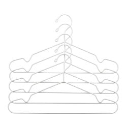 STAJLIG hanger, in/outdoor, white Width: 41 cm Package quantity: 5 pack