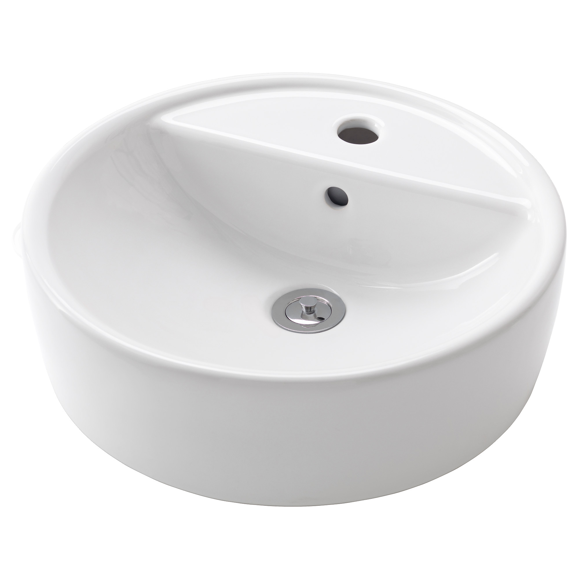 T Rnviken Countertop Sink White Height 5 1 2 Diameter 17 3