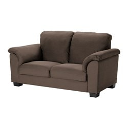 TIDAFORS two-seat sofa, Dansbo medium brown Width: 190 cm Depth: 95 cm Free height under furniture: 8 cm