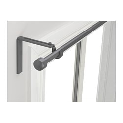 RÄCKA, Curtain rod combination, silver color