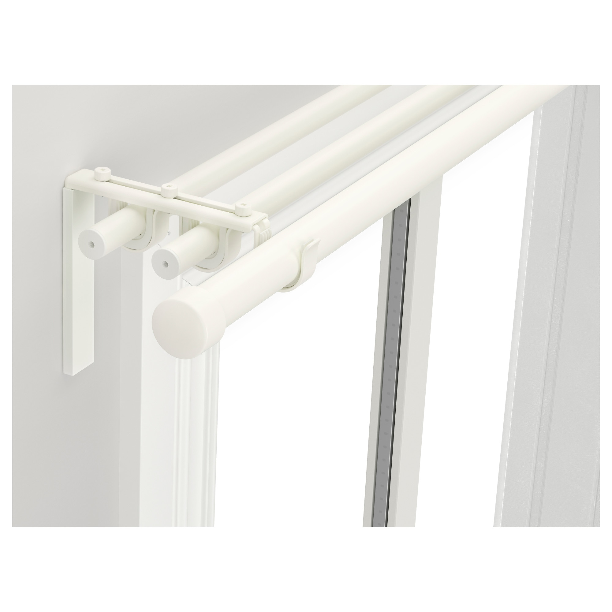 White wood curtain rods and brackets - White Wood Curtain Rods And Brackets 27