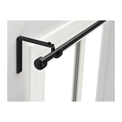 RÄCKA, Curtain rod combination, black