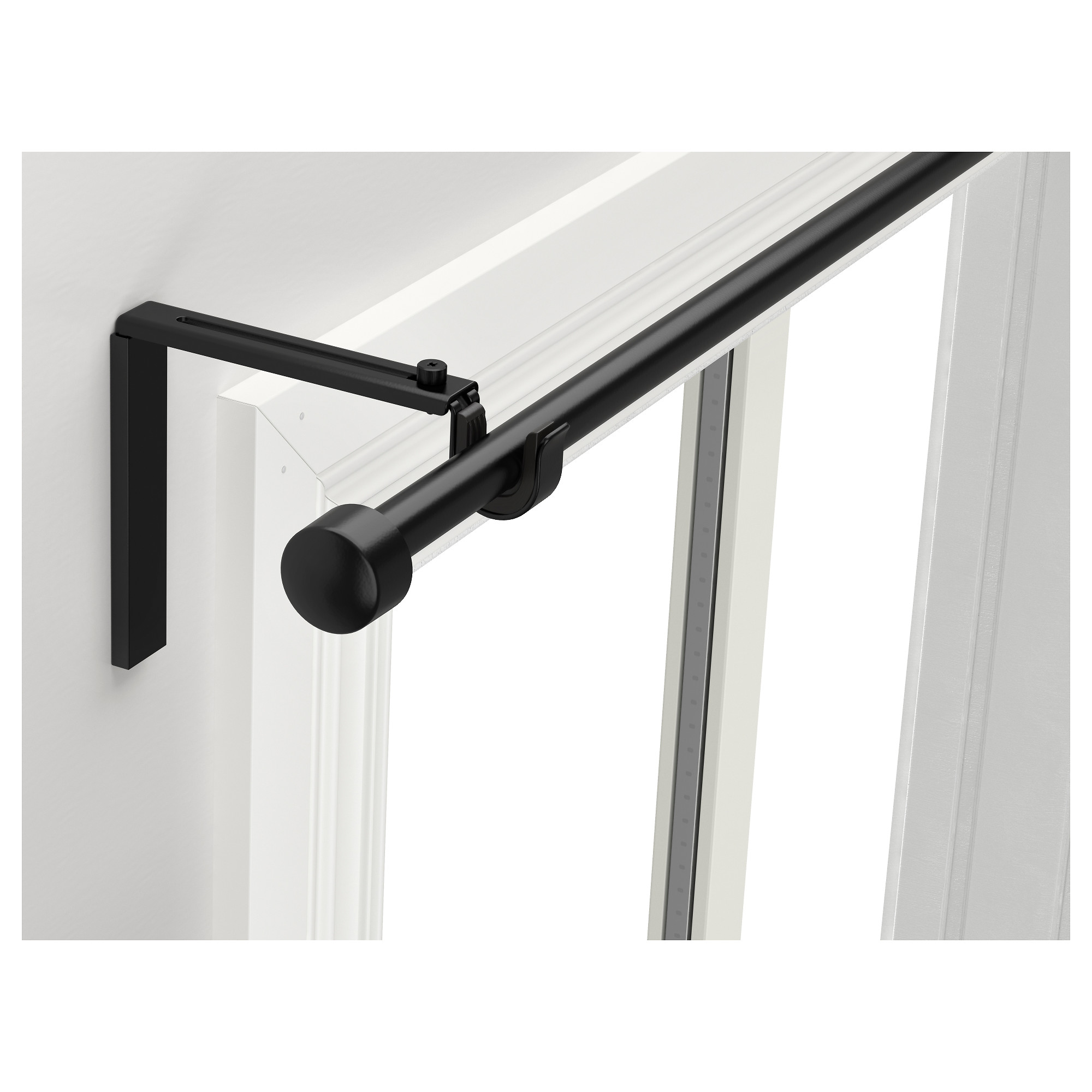 RÄCKA Curtain Rod Combination   IKEA  Black Curtain Rod