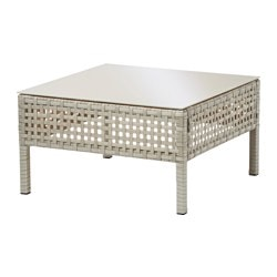 KUNGSHOLMEN coffee table, outdoor, light grey Length: 62 cm Width: 62 cm Free height under furniture: 17 cm