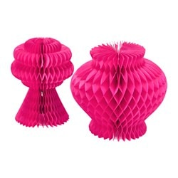 VISIONÄR decoration set of 2, cerise Height: 15 cm