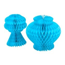 VISIONÄR decoration set of 2, light blue Height: 15 cm