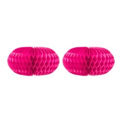 VISIONÄR hanging decoration, cerise Diameter: 20 cm Height: 11 cm Package quantity: 2 pack