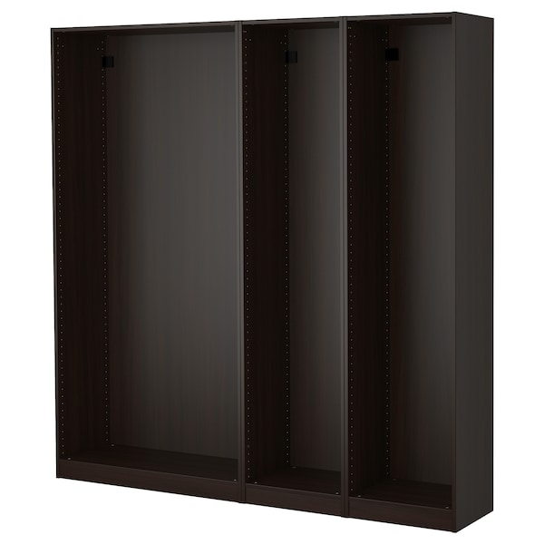 Ikea Armadio Due Ante.Pax 3 Wardrobe Frames Black Brown Ikea