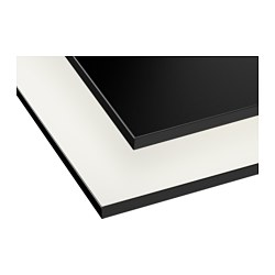 GOTTSKÄR worktop, double-sided, white, black with black edge Length: 186 cm Depth: 63.5 cm Thickness: 1.8 cm