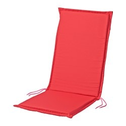 NÄSTÖN seat/back pad, outdoor, red Length: 116 cm Width: 47 cm Back height: 68 cm