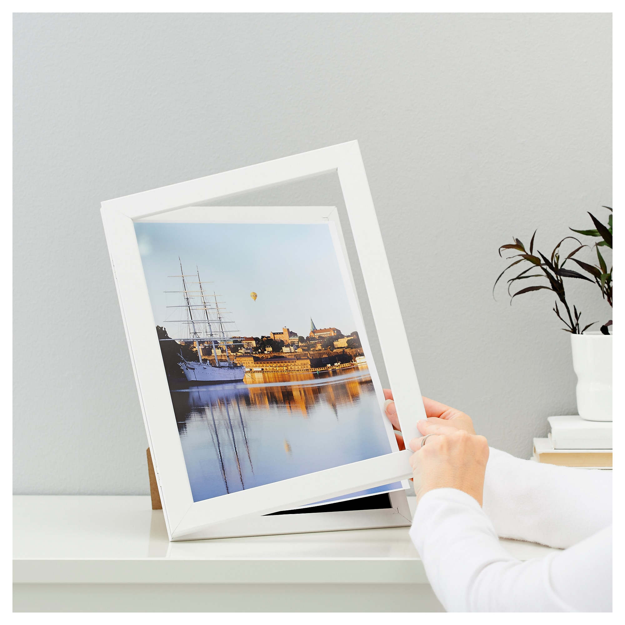 hemmingsbo front opening picture frame ikea - Easy Change Artwork Frames