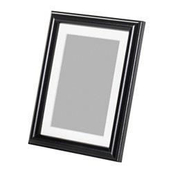 "MARIETORP frame, black Picture without mat, width: 5 "" Picture without mat, height: 7 "" Picture with mat, width: 4 "" Picture without mat, width: 13 cm Picture without mat, height: 18 cm Picture with mat, width: 10 cm"