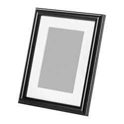 MARIETORP frame, black Picture without mount, width: 15 cm Picture without mount, height: 20 cm Picture with mount, width: 10 cm