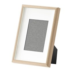 MOSSEBO frame, white stained oak effect Picture without mount, width: 21 cm Picture without mount, height: 30 cm Picture with mount, width: 13 cm