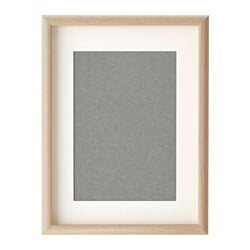 MOSSEBO frame, white stained oak effect Picture without mount, width: 30 cm Picture without mount, height: 40 cm Picture with mount, width: 21 cm