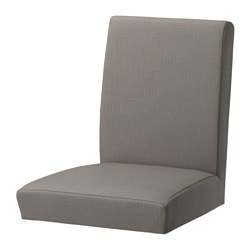HENRIKSDAL chair cover, Nolhaga grey-beige