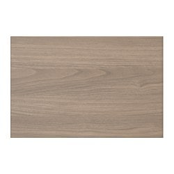 "BROKHULT drawer front, walnut effect light gray Width: 14 7/8 "" System, height: 10 "" System, width: 15 "" Width: 37.8 cm System, height: 25.4 cm System, width: 38.1 cm"