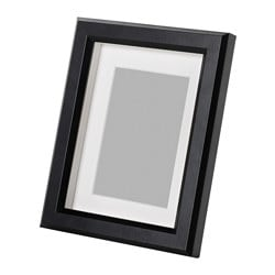 GUNNABO frame, black Picture without mount, width: 15 cm Picture without mount, height: 20 cm Picture with mount, width: 10 cm