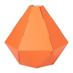 JOXTORP pendant lamp shade, orange Diameter: 27 cm Height: 32 cm