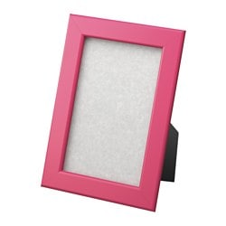 "FISKBO frame, dark pink Frame, height: 7 "" Picture, width: 4 "" Picture, height: 6 "" Frame, height: 18 cm Picture, width: 10 cm Picture, height: 15 cm"