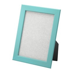 "FISKBO frame, blue Frame, height: 8 ¼ "" Picture, width: 5 "" Picture, height: 7 "" Frame, height: 21 cm Picture, width: 13 cm Picture, height: 18 cm"