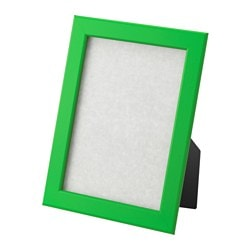 FISKBO frame, green Frame, height: 21 cm Picture, width: 13 cm Picture, height: 18 cm