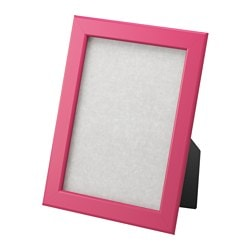 "FISKBO frame, dark pink Frame, height: 8 ¼ "" Picture, width: 5 "" Picture, height: 7 "" Frame, height: 21 cm Picture, width: 13 cm Picture, height: 18 cm"