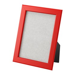 FISKBO frame, red Frame, height: 21 cm Picture, width: 13 cm Picture, height: 18 cm