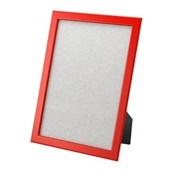 FISKBO frame, red Frame, height: 33 cm Picture, width: 21 cm Picture, height: 30 cm