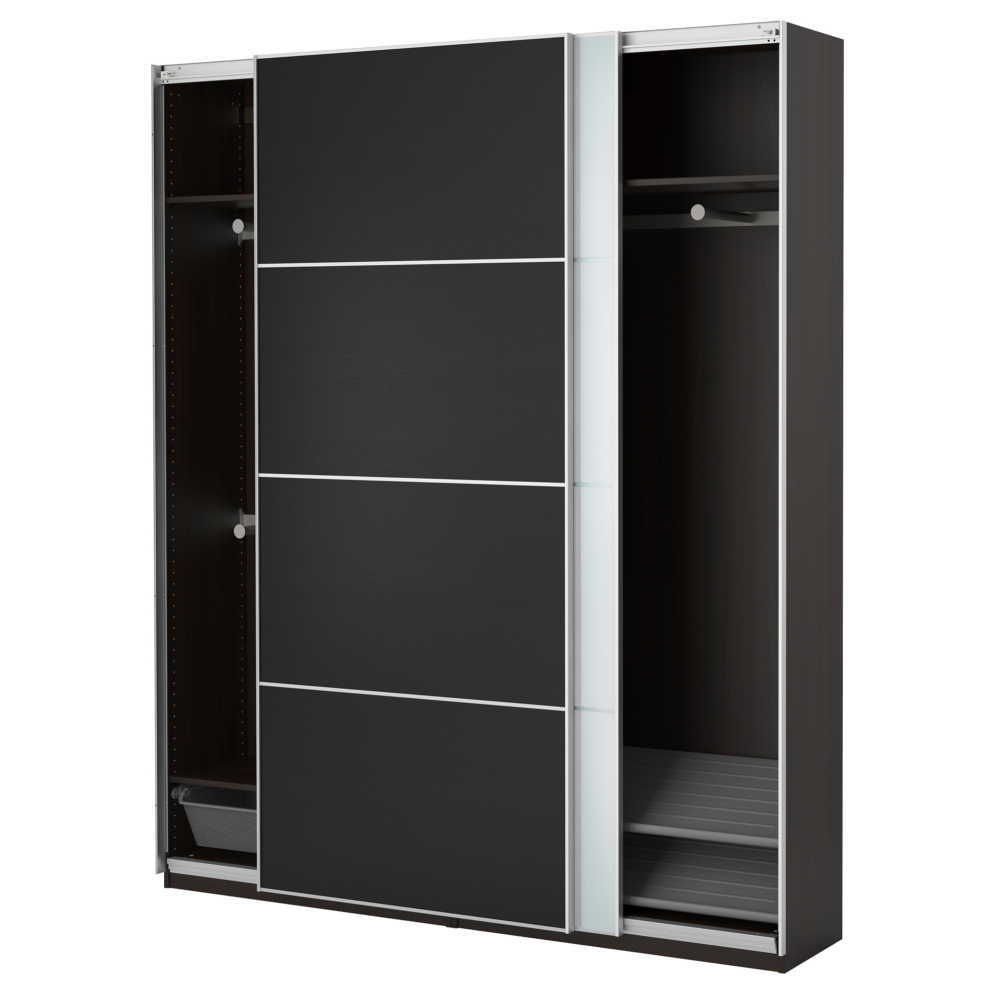 m bel schrank 2016 kleiderschrank schwarz. Black Bedroom Furniture Sets. Home Design Ideas