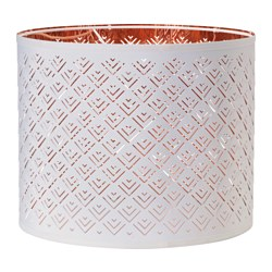 NYMÖ lamp shade, copper-colour, white Diameter: 37 cm Height: 30 cm