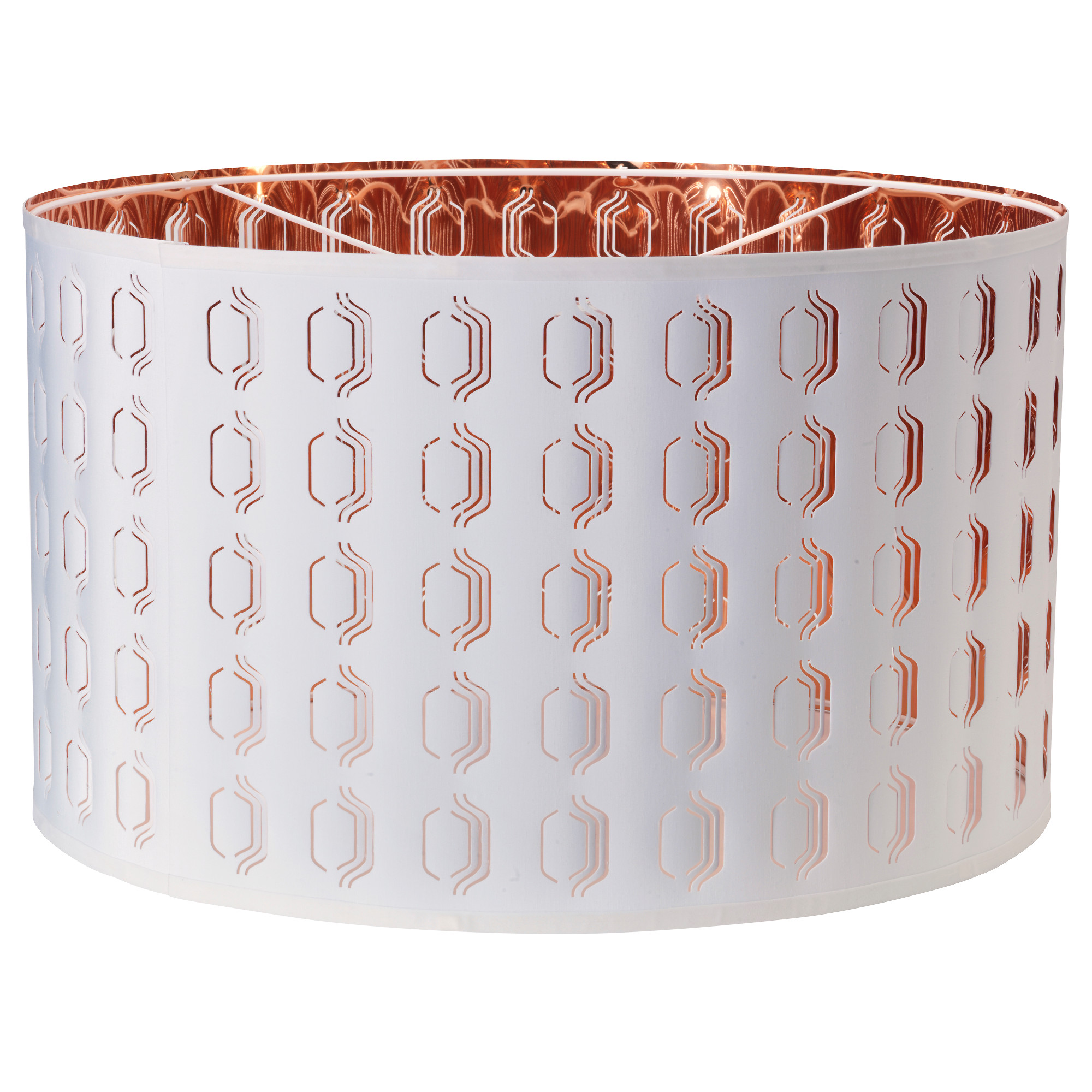 "Copper Lamp Shade Ikea NYM lamp shade, white, copper color Diameter: 23 "" Height: 14 """