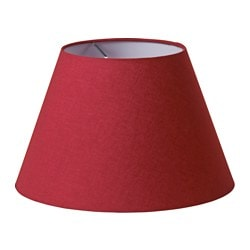 OLLSTA lamp shade, dark red Diameter: 38 cm Height: 24 cm