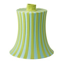 "ÄMTEVIK lamp shade, blue, green stripe Height: 15 "" Diameter: 15 "" Height: 37 cm Diameter: 37 cm"