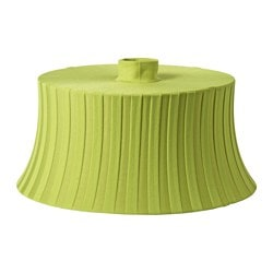 "ÄMTEVIK lamp shade, green Height: 10 "" Diameter: 22 "" Height: 25 cm Diameter: 55 cm"