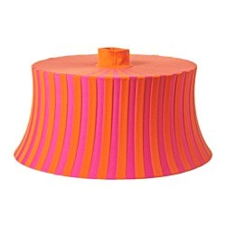 "ÄMTEVIK lamp shade, orange, pink stripe Height: 10 "" Diameter: 22 "" Height: 25 cm Diameter: 55 cm"