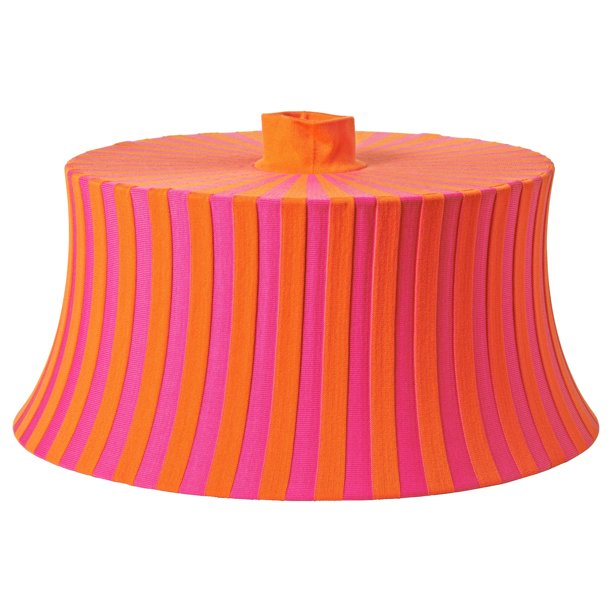 Orange and turquoise lamp shade -  Mtevik Lamp Shade Orange Pink Stripe Height 10 Diameter 22