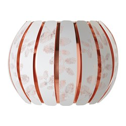 ÖVERUD lamp shade, white, copper-colour