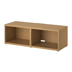 BESTÅ TV bench, oak effect Width: 120 cm Depth: 40 cm Height: 38 cm